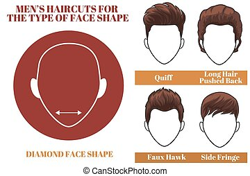 diamond face shape - Mens haircuts. Hairstyles for diamound...