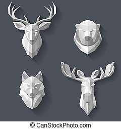 forest animals on the wall - The heads of the forest animals...