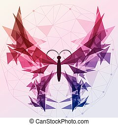 Abstract Butterfly - Vector Illustration