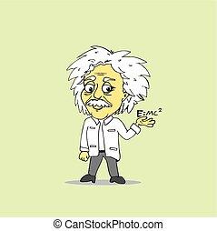 Albert Einstein Cartoon Vector