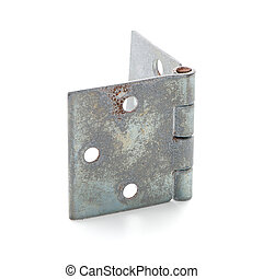 Single door hinge isolated on white background