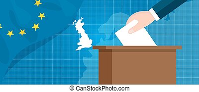 eu british referendum europe union exit britain break vector...