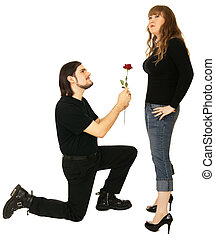 Persuasion - a man persuade a girl to accept his love...