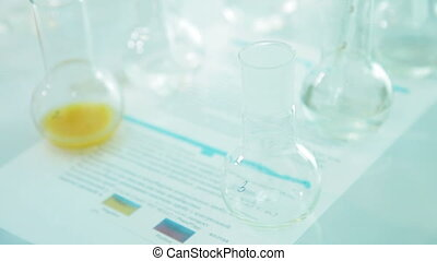 Experiments with tubes in laboratory - Bio laboratory and...