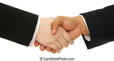Business People Shake Hand - isolated hand shake of business...