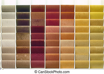 Samples of color from carpets