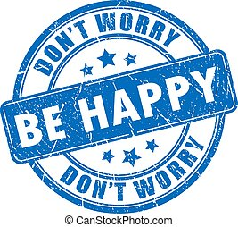 Be happy stamp