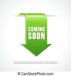 Coming soon green arrow