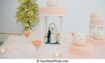 Elements of Decor Wedding Cake - Elements of decor on a...