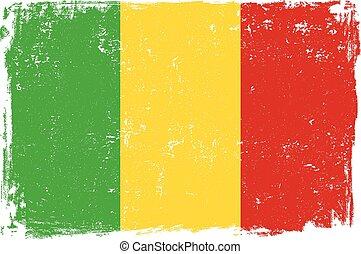 mali flag vectoreps - Mali vector grunge flag isolated on...