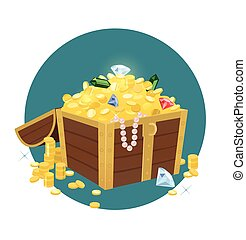 Treasure Chest With Golden Coins