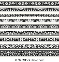Design elements pompeian borders - Design elements. Borders...
