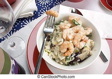 Shrimp Dinner with Fork