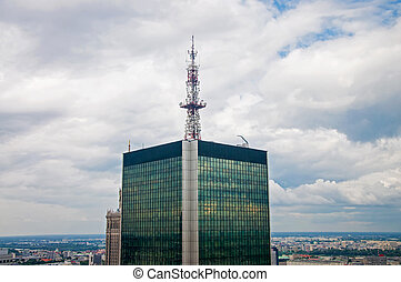Warsaw - view of the modern center of Warsaw