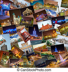 Warsaw - a lot of different pictures of Warsaw attractions