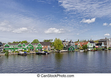 Zabudowanie,  zaanse, holandia,  schans,  Amsterdam, typowy
