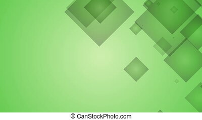 Squares on Green Background.