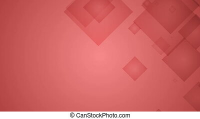 Squares on Red Background - Abstract Squares on Red...