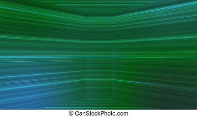 Broadcast Horizontal Hi-Tech Lines Dome, Green, Abstract, Loopable, HD