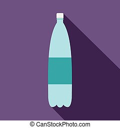 Plastic bottle of water flat icon