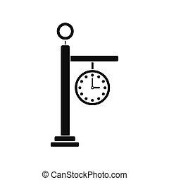 Street clock icon