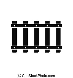 Railroad black simple icon isolated on white background