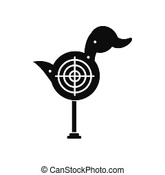 Duck target black simple icon