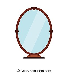 Mirror flat icon isolated on white background