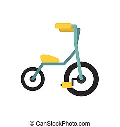 Baby tricycles flat icon isolated on white background