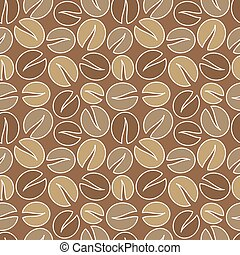 Coffee seamless vector - Coffee beans seamless pattern....