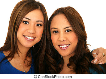 Beautiful Sisterhood 3 - portrait of two beautiful young...