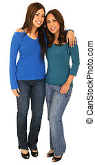 Sisterhood Shot - portrait of two girls as a sister in...