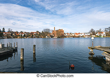 The City of Malchow in Mecklenburg Western Pomerania,...