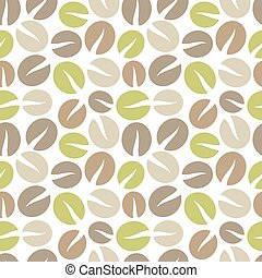 Coffee beans background. Vector illustration