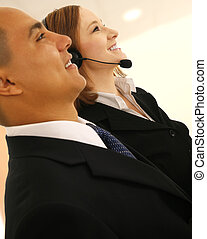Customer Representative - shot of two business people in...