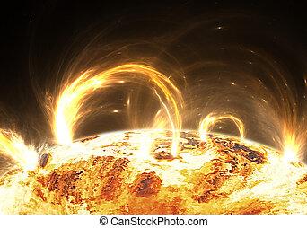 Extreme solar storm, solar flares