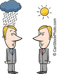 weather for business cartoon - Concept Cartoon Illustration...