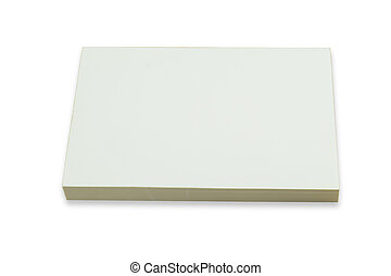 Photo of blank business cards with soft shadows on white...