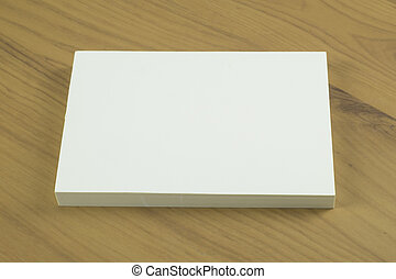 Photo of blank business cards with soft shadows on light...