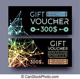 Abstract gift voucher design template.