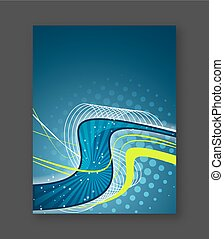 Abstract business wavy flyer, brochure or cover design....
