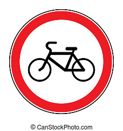 no bicycle sign - No or Not allowed bicycles symbol Sign...