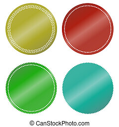 stickers color blank - Colorful round stickers Set of blank...