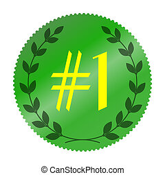 choice number one - Choice number one of the year symbol....