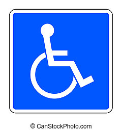 disabled blue sign - Disabled sign Handicapped person icon...