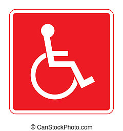 for the disabled - Disabled sign. Handicapped person icon in...