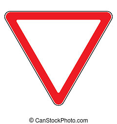 give way sign - Road sign give way isolated Design yield...