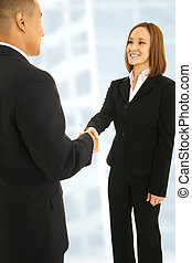 Shake Hand In Office