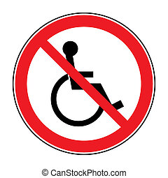 no disabled sign - Disabled sign Handicapped person icon...