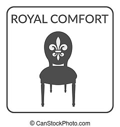royal comfort sign - Furniture symbol on a white background...